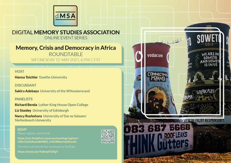 Memory, Crisis and Democracy in Africa