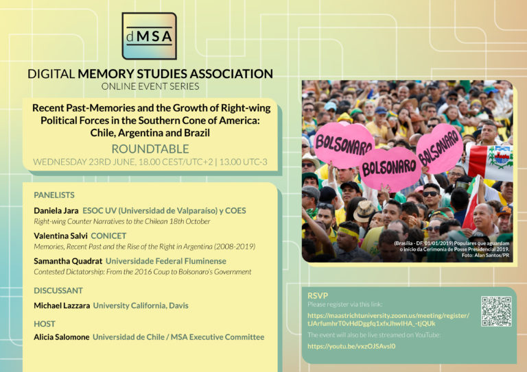 Recent Past-Memories and the Growth of Right-wing Political Forces in the Southern Cone of America: Chile, Argentina and Brazil