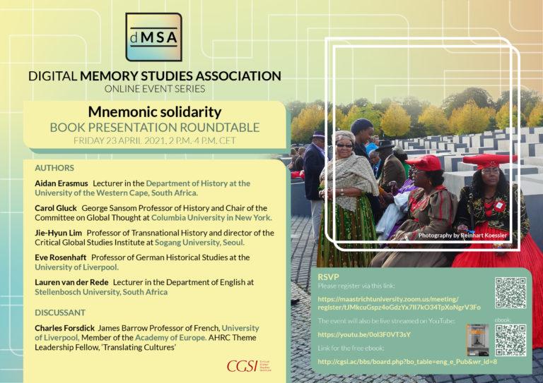 Mnemonic Solidarity: Book Presentation Roundtable